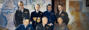 General Eisenhower with Staff